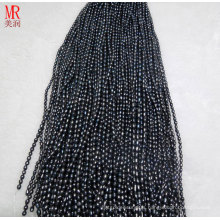 6-7mm Black Rice Freshwater Pearls Strands (ES371)