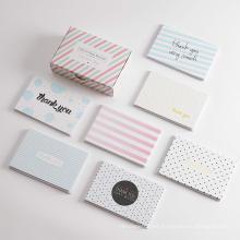 La impresión de papel plegable por encargo de la boda la aduana le agradece regalo paquete de las tarjetas de felicitación con el sobre