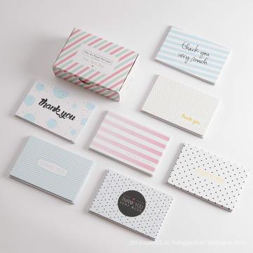 Изготовленный на заказ складной бумажный печатать упаковку поздравительных открыток подарка таможни спасибо с конвертом