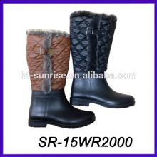 winter styles rain boot winter pvc rain boot fancy pvc boot