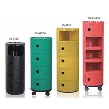 Home Storage Cabinet Unit ABS Plastic/Office Storage with Wheel