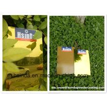 Highly Protective Candy Transparent Clear Gold Single Coat en polvo de recubrimiento