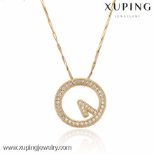 32325-Xuping Women Gold Alloy jewelry pendant clock pendants