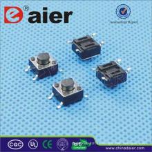 smd micro pulsador; interruptor de botón 4 pin