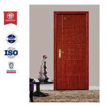 Gran calidad de fuego nominal puerta y puerta de cristal de madera