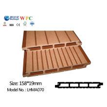 Painel de parede WPC com SGS CE Fsc ISO Revestimento de parede Revestimento Plástico de madeira Painel de parede impermeável composto para uso ao ar livre Lhma070