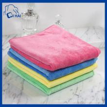 Serviette de nettoyage en microfibre en laine molle double couche (QHL77667)