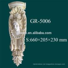 PU Exterieur geschnitzte dekorative Corbel