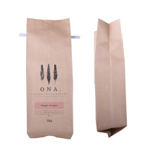 1 KG Bio Bag Compostable Coffee Packaging Craft Papel Bolsa Stock Coffee Bag