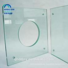 Vidrio templado pulido del bisel plano claro de 3-19mm con en12150 en China