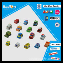 Moda infantil promocional brinquedo mini puxar para trás carros