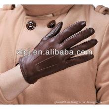 Nuevo mens guantes de conducción de cuero de invierno de moda