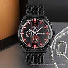 SKMEI 9181 Relogio Masculino New Mens Watches Leather Chronograph Waterproof Sport Quartz Watch