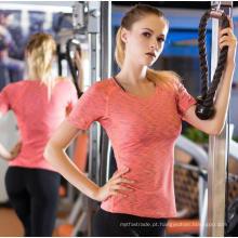 Esporte e Fitness Vestuário Mulheres T-Shirt Quick Sweat