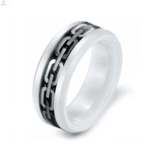 Einzigartige Flexible Silber Weiß Keramik Ring Schmuck, Carbon Element Keramik Ring