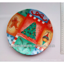 Placa de la Navidad de la mejor calidad de la fruta / regalo de cerámica, placa de cena de cerámica decorativa