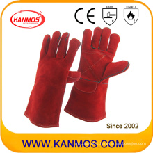 Red Hot Resistant Industrial Safety Cowhide Leather Welding Work Gloves (11105)