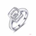 Dancing Diamond Jewelry 925 Silver Rings CZ Set