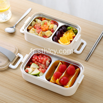 Double Lunch Box en acier inoxydable