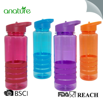 Plastic Fruit Water Bottle Flip Top Straw Cap