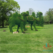 Huge artificial topiary grass sculpture