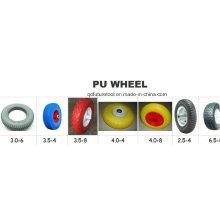 Все размеры проколов тачки и ручной тележки пены PU полиуретана, резиновый колесо