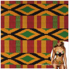 Low MOQ polyamide elastane custom digital african printed fabric for swimwear
