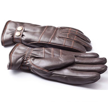 Herrenmode Schaffell Leder Motorrad Fahren Handschuhe (YKY5188-2)