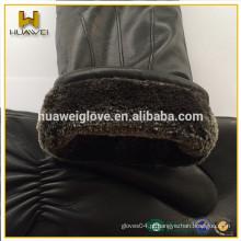 Profissional Mitten Factory personalizado Inverno Thick luvas de couro de pele para mulheres e homens