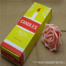 2018 New Products White Candle in Yellow Box