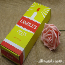 2018 Nieuwe producten White Candle in Yellow Box