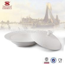 Soupière en céramique de soupe de vaisselle d'OEM / grand bol de porcelaine d'os pour l'hôtel