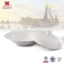 OEM ceramic tableware soup tureen / large bone china bowl for hotel