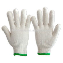 10 gauge bleached white cotton knitted working gloves 500 grams