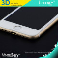 Protecteur d'écran en verre trempé souple en gros anti-empreintes digitales 3D pour iphone 7 Plus