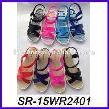 Bunte Damen fancy flache Sandale Sandale thailand Schule Sandale