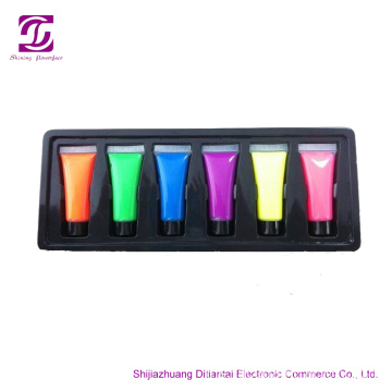 10ML 6 warna UV cahaya NEON FACE PAINT