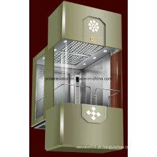 Elevador panorâmico clássico ao ar livre com vidro de 3 lados