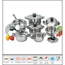 12 PCS Stainless Steel Saucepan Set