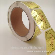 papel al por mayor de papel de oro impresión de papel adhesivo negro para perfume cosmético