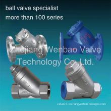 / Tornillo con brida Filtro Válvula de filtro / Acero inoxidable Y Filtro / Y Tipo Filtro / Y Tipo Ss304 Filtro