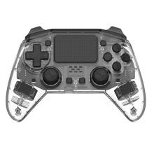 Manette PS4 à distance noire transparente Bluetooth
