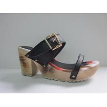 2016 novo design senhoras sandálias pedaço (hyy03-081)