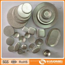 Gebratener Kreis Aluminiumschnecken