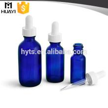 bouteilles bleues de compte-gouttes 30ml de couleur de cobalt
