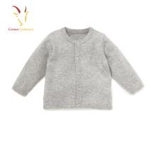 Baby Boy Cashmere Cardigan Suéter Liso Crianças Cardigan