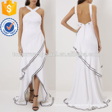 White Cross Strap Evening Gown Manufacture Wholesale Fashion Women Apparel (TA4069D)