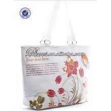 La bolsa de asas de la lona, bolso de mano floral de la lona