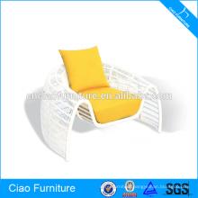 Outdoor Garden Furniture White Rattan Chair