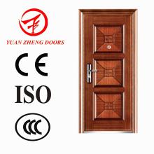 Puerta de entrada de acero interior fabricada en China